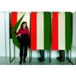 Szavazófülke függöny - nemzeti színű, címerrel 100 x 150 cm-es