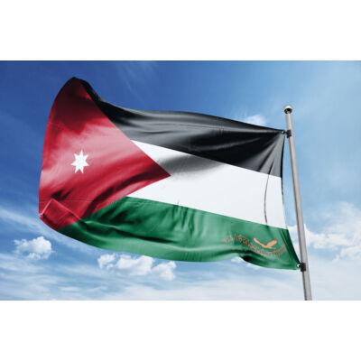 Jordánia zászlaja 40x60 cm