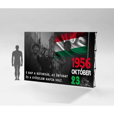 1956.október 23. sajtófal E 224x295 cm. Szerkezet + nyomat
