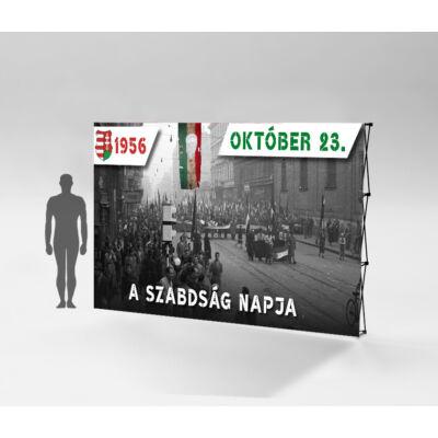1956.október 23. sajtófal F 224x295 cm. Szerkezet + nyomat