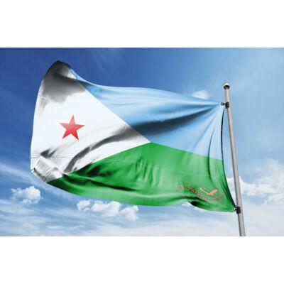 Dzsibuti zászlaja 40x60cm