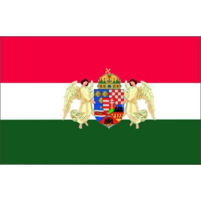 Nemzeti zászló angyalos címerrel  90x150cm