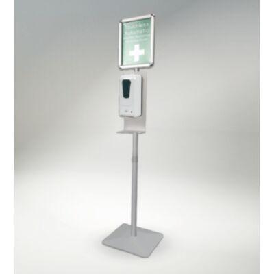 Automata, szenzoros géladagoló állványon, tájékoztató táblával