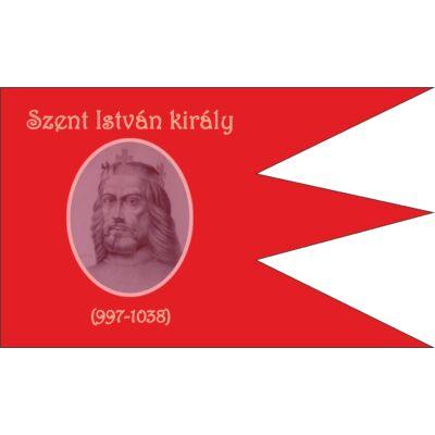 Szent István király emlékzászló - kültéri 90x150 cm