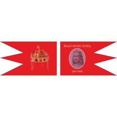 Szent István király emlékzászló - beltéri 150x90