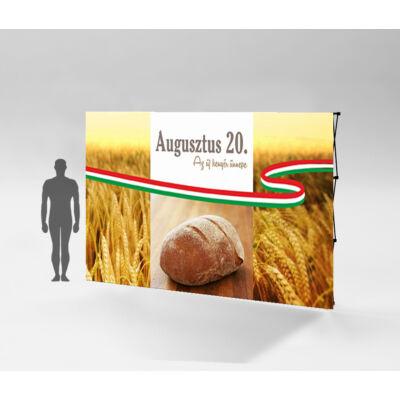 Az új kenyér ünnepe sajtófal I. 295x224 cm. Szerkezet + nyomat
