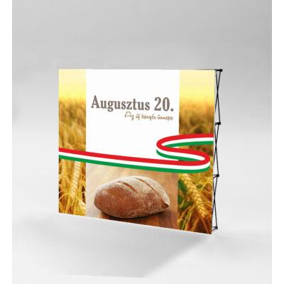 Az új kenyér ünnepe sajtófal 224x224 cm. Szerkezet + nyomat