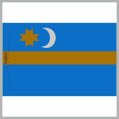 Dupla, selyemszatén Székely zászló 90x150cm