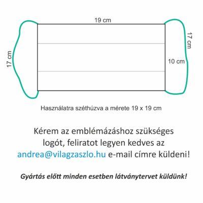8. Mosható textil szájmaszk, egyedi logóval, felirattal 1.000 Ft/db, 2 db/csomag