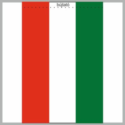 Dupla, selyemszatén Nemzeti zászló 100 x 200 cm